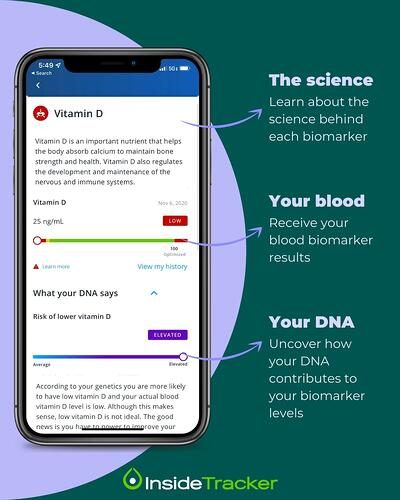 DNA and blood test results