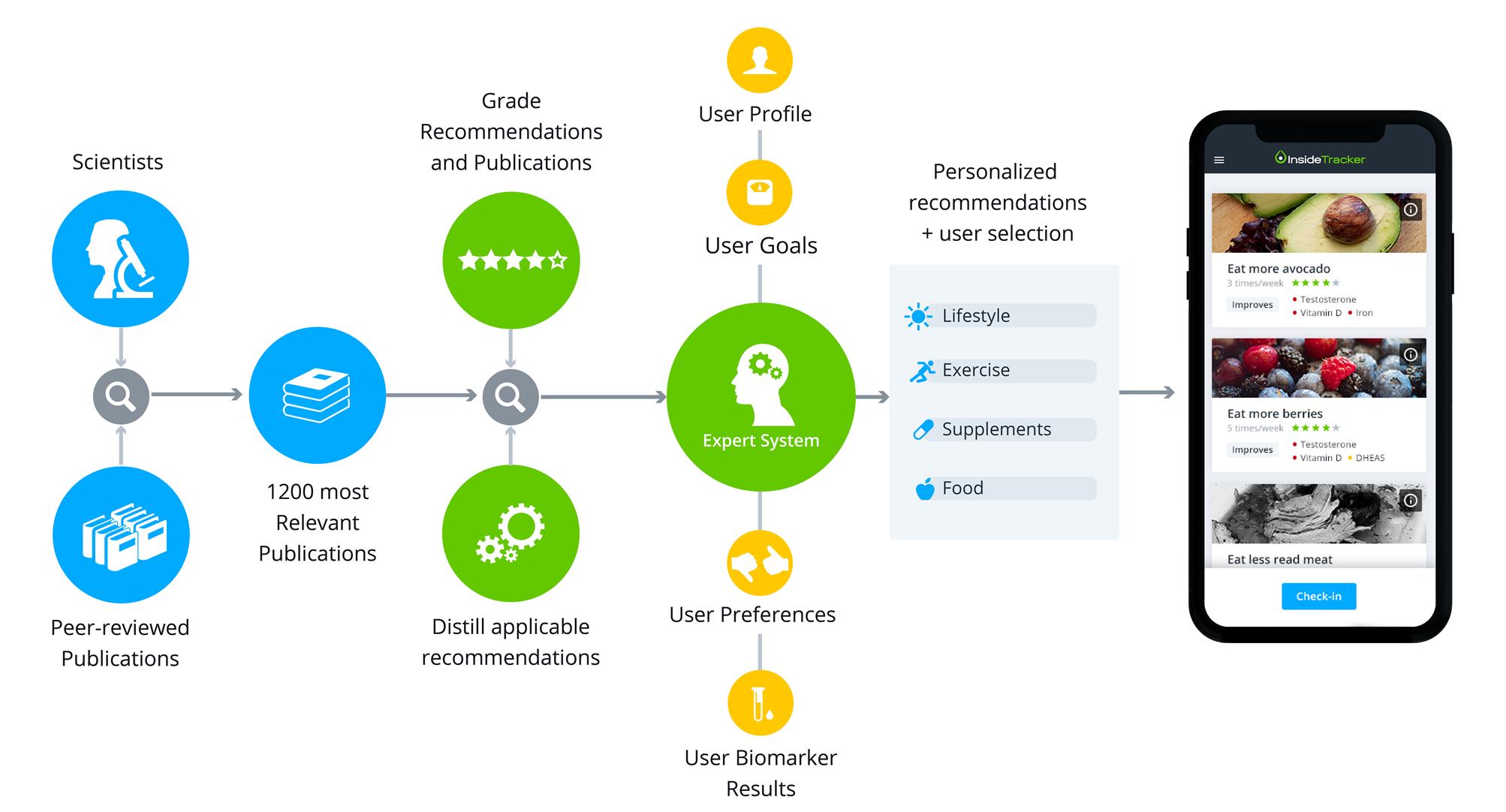 Graphical description of the InsideTracker algorithm and platform