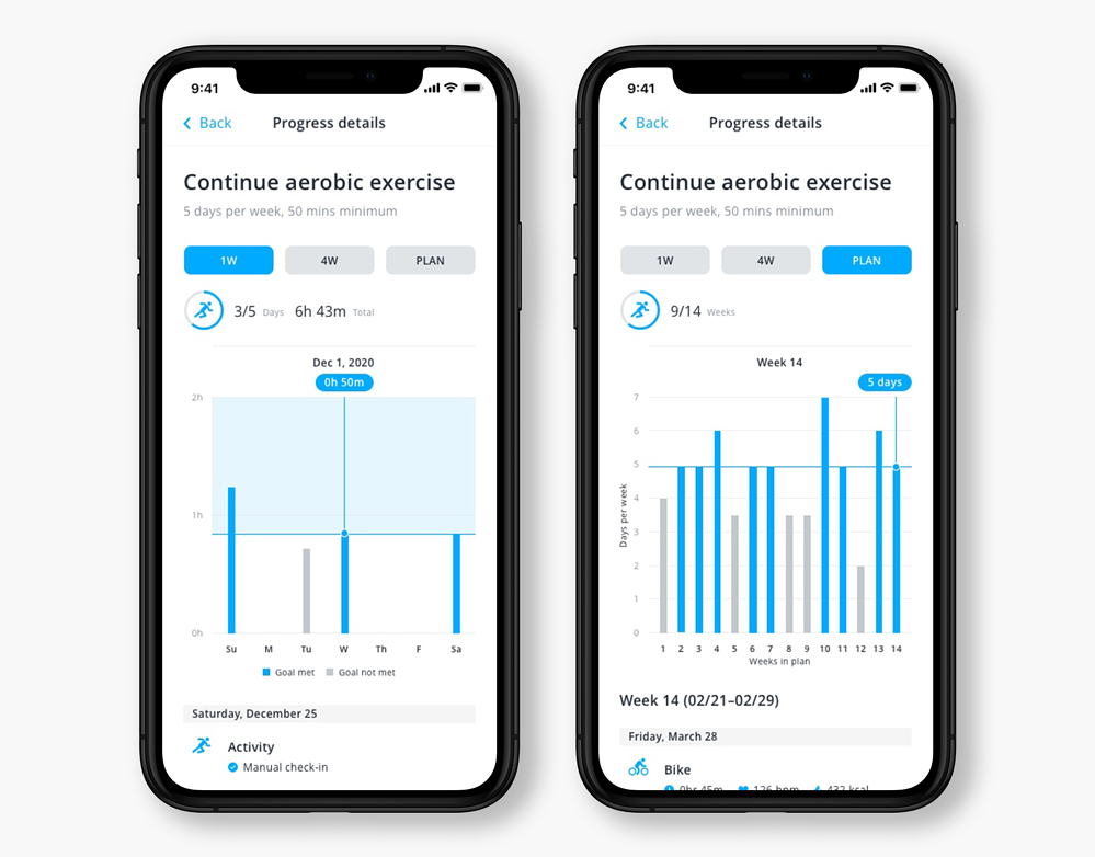 PROGRESS TRACKING OF EXERCISE AUTO CHECK-IN_