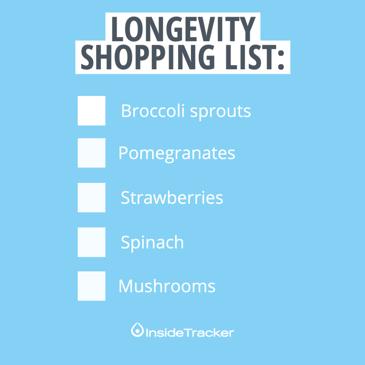 Foods to promote longevity