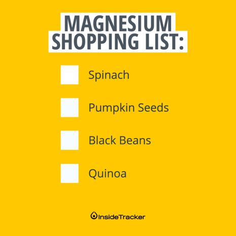 Shopping List - Instagram - Magnesium