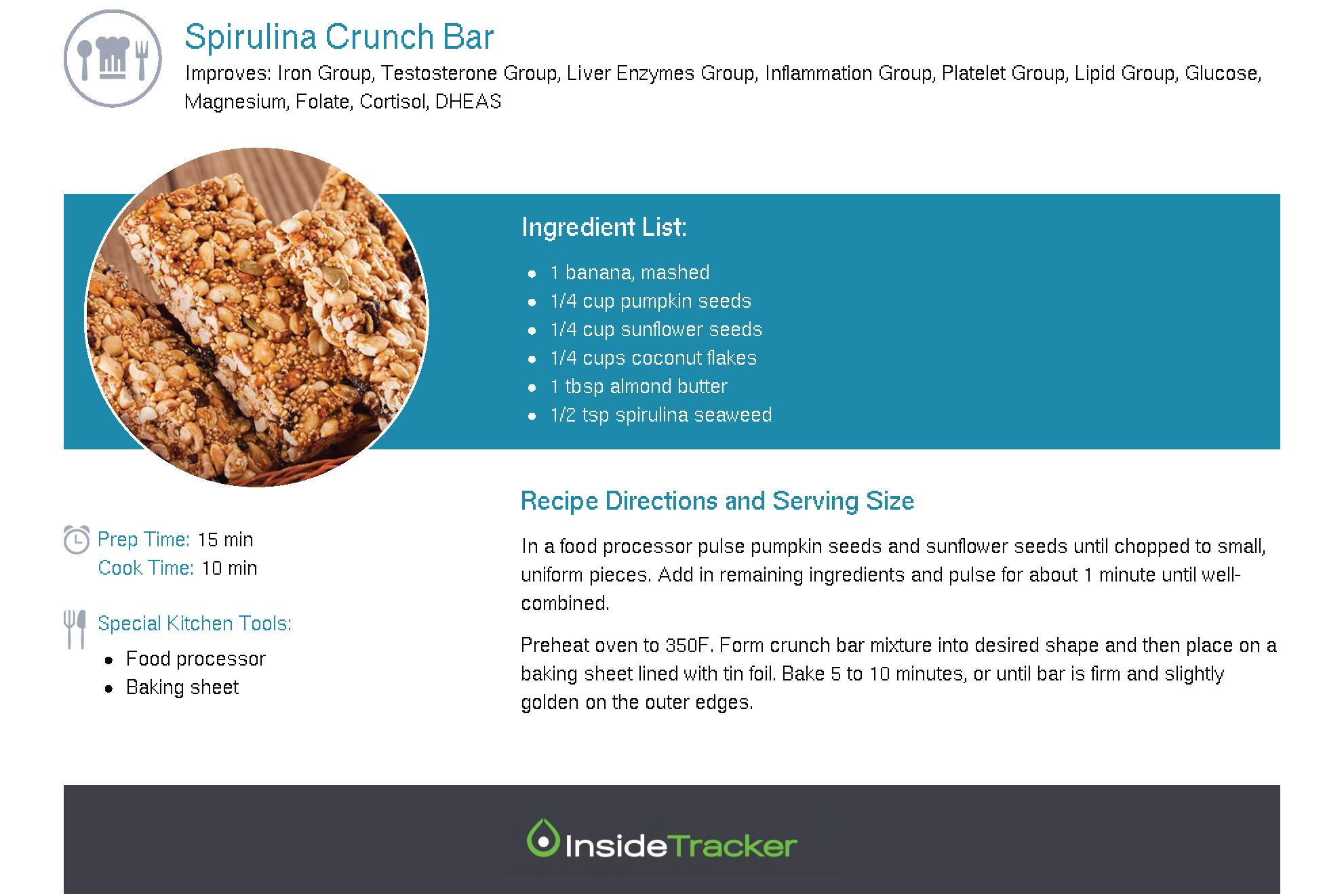 Spirulina Crunch Bar