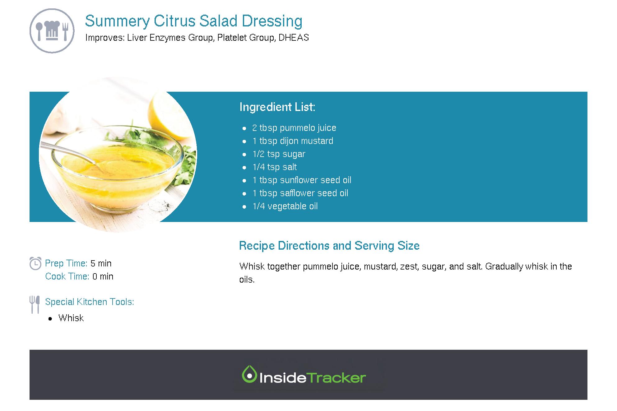 Summery Citrus Salad Dressing
