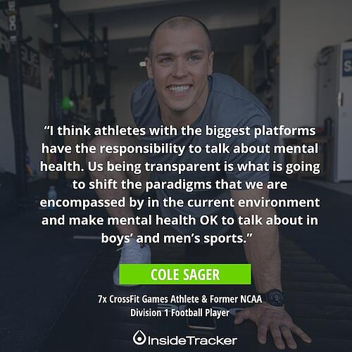 The future of men's mental health in sports
