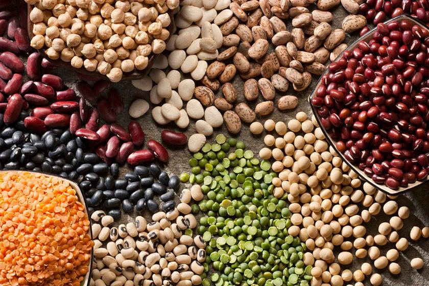 healthy beans lentils legumes