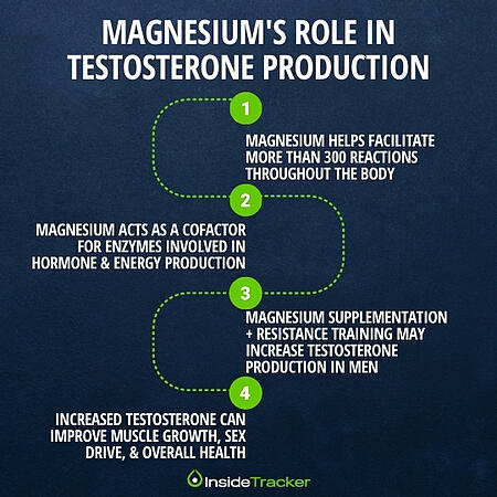 Magnesium can increase testosterone production in men