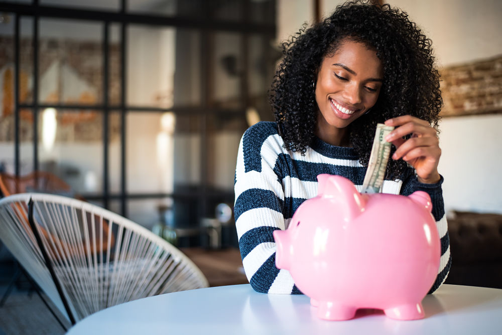 Woman saving money DIY Essentials